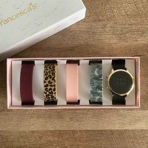 Francesca's Watch w/ 5 silicone bands